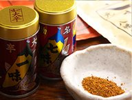 信州善光寺大門町一味七味唐がらしをご用意しております。